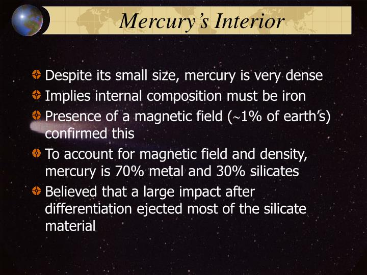 Mercury's Interior