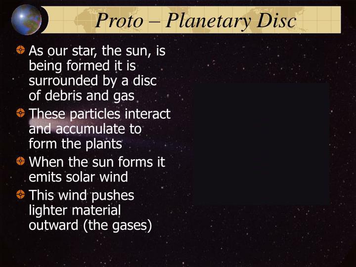 Proto – Planetary Disc