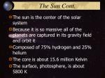 the sun cont