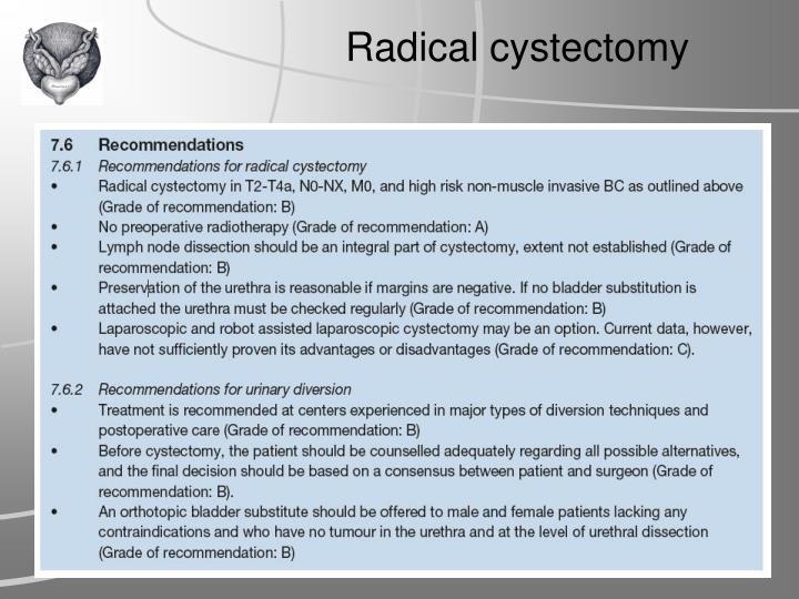 Radical cystectomy