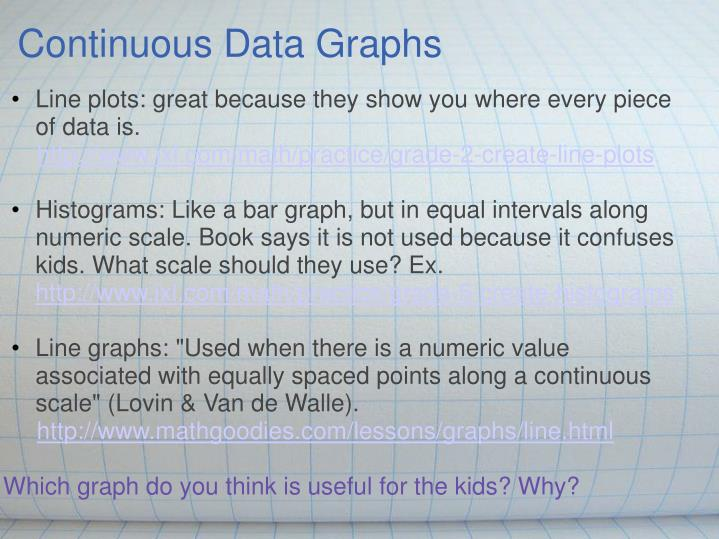 Continuous Data Graphs