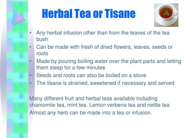 Herbal Tea or Tisane