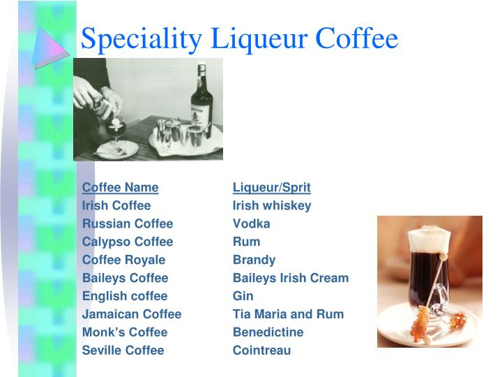 Speciality Liqueur Coffee