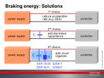 braking energy solutions