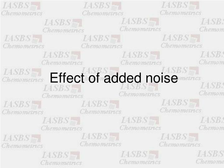 Effect of added noise