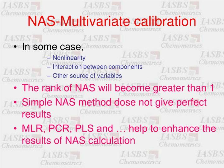NAS-Multivariate calibration