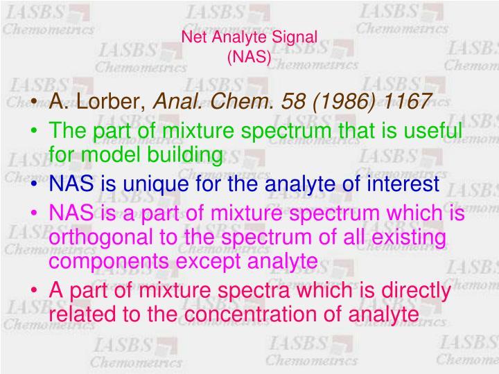 Net Analyte Signal