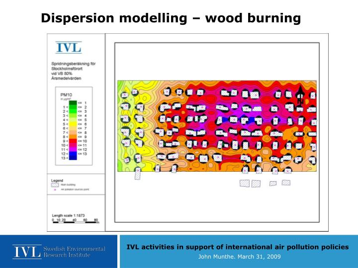 Dispersion modelling – wood burning