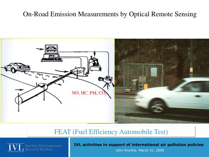 On-Road Emission Measurements by Optical Remote Sensing