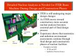 detailed nuclear analysis is needed for iter basic machine during design and construction phases