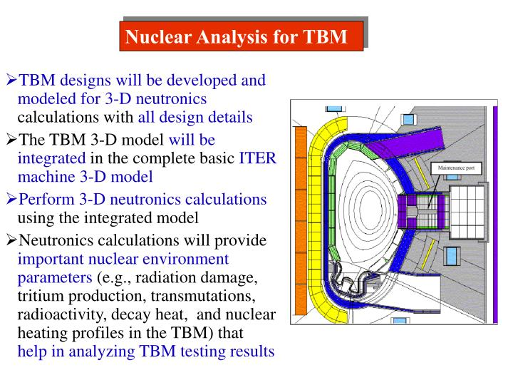 Nuclear Analysis for TBM