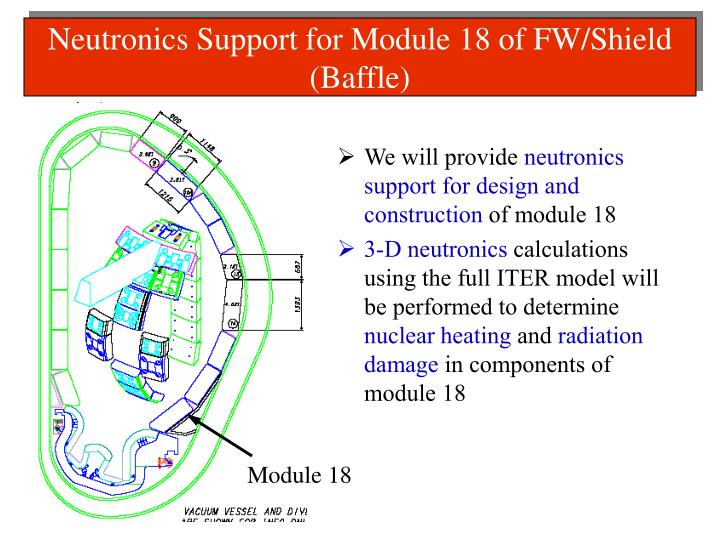 Neutronics Support for Module 18 of FW/Shield (Baffle)
