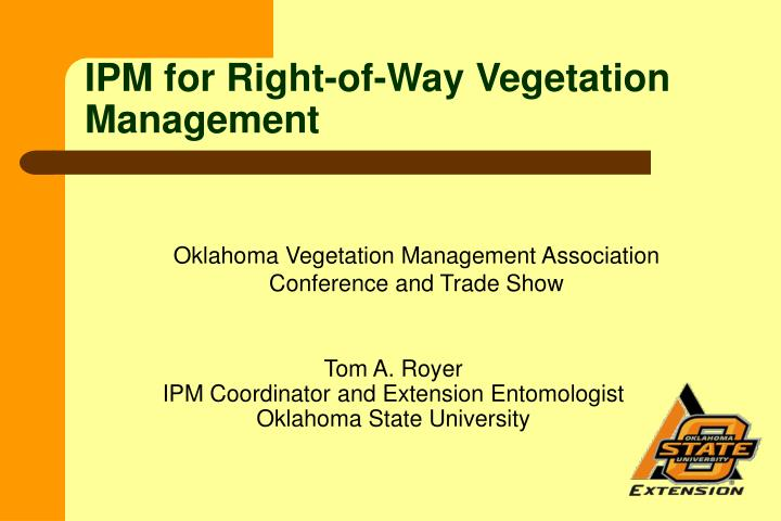 ipm for right of way vegetation management