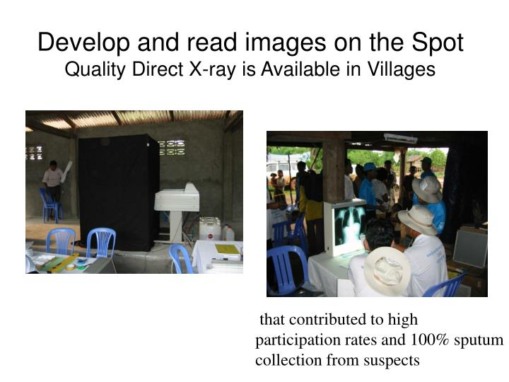 Develop and read images on the Spot