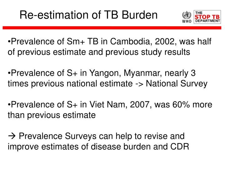 Re-estimation of TB Burden