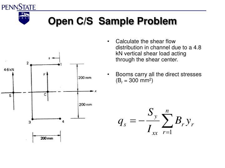 Open C/S  Sample Problem