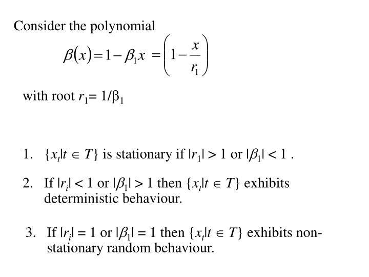 Consider the polynomial