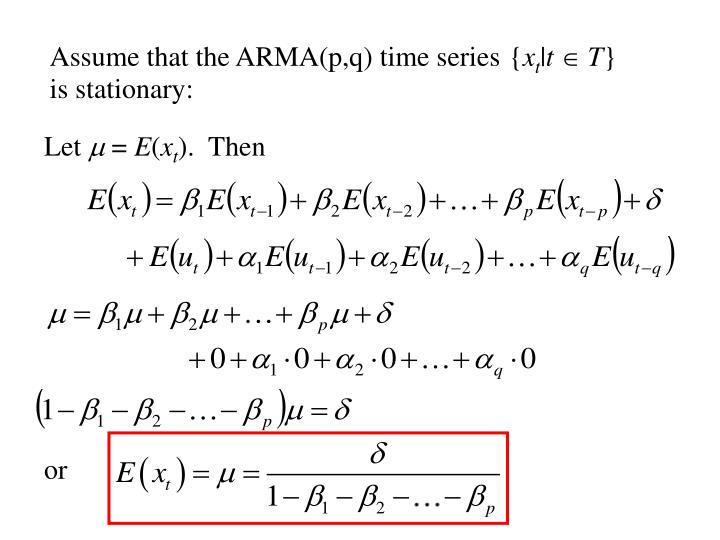 Assume that the ARMA(p,q) time series