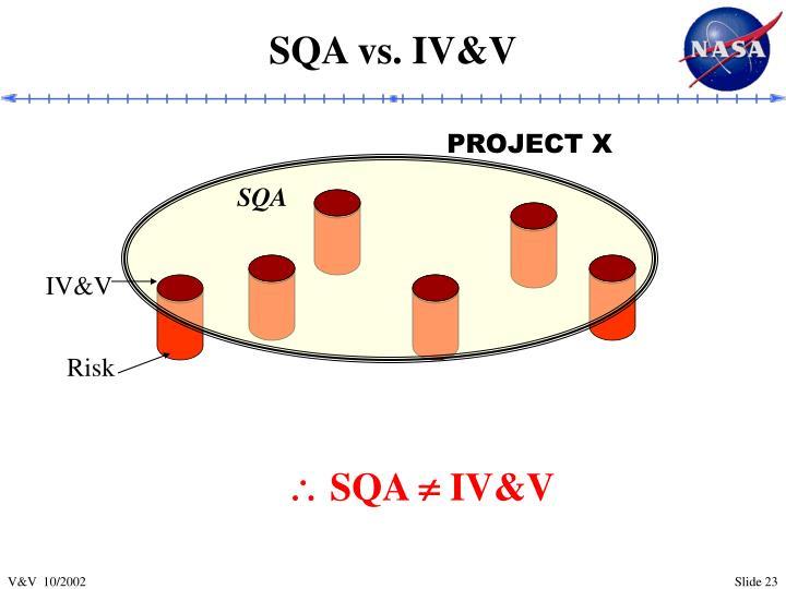 SQA vs. IV&V