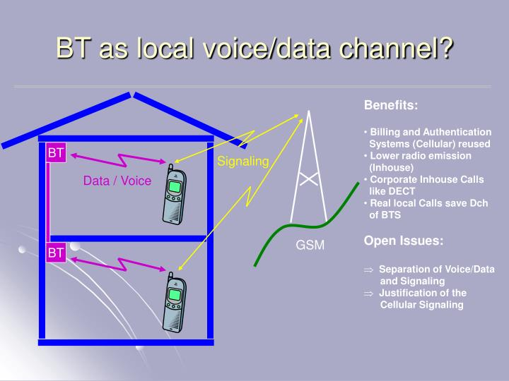 BT as local voice/data channel?