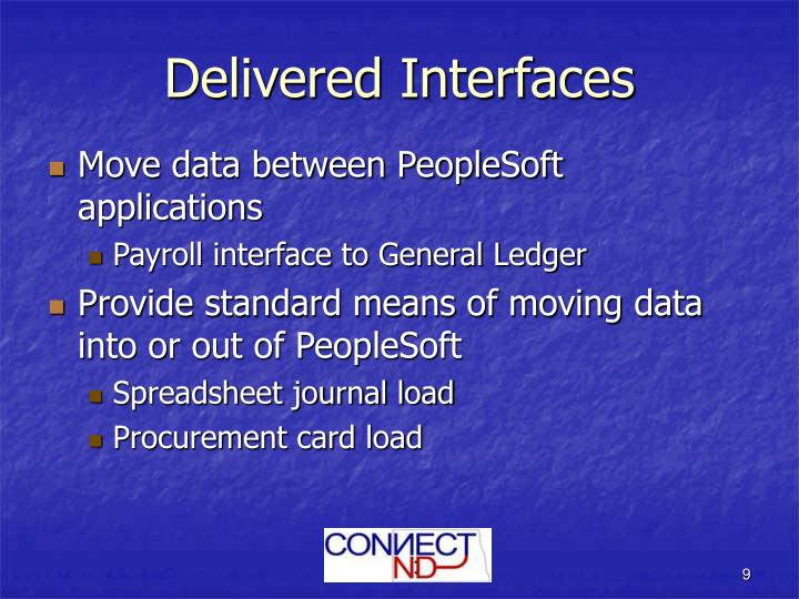 Delivered Interfaces