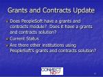 grants and contracts update