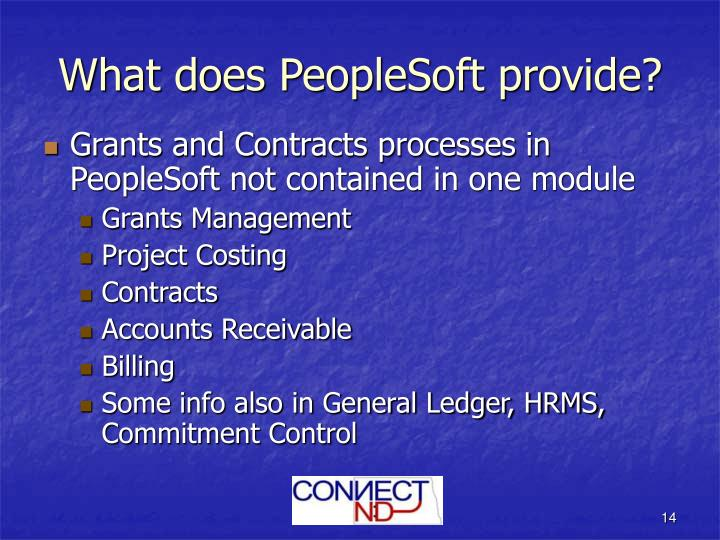 What does PeopleSoft provide?