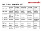 day school timetable 1890