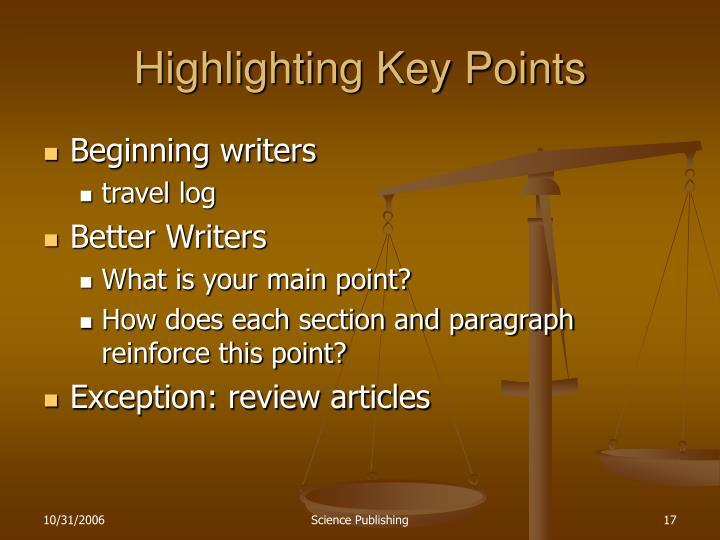 Highlighting Key Points