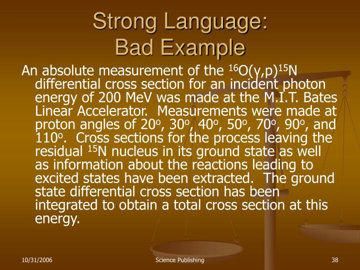 Strong Language:
