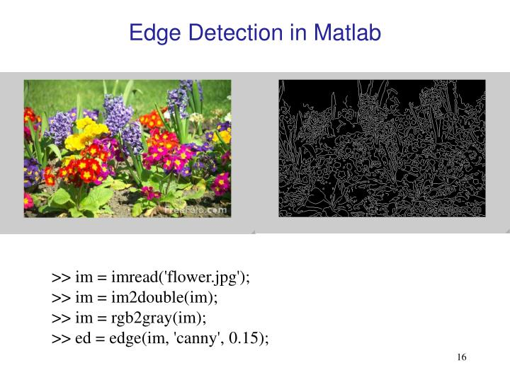Edge Detection in Matlab