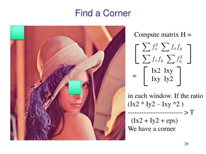 Find a Corner