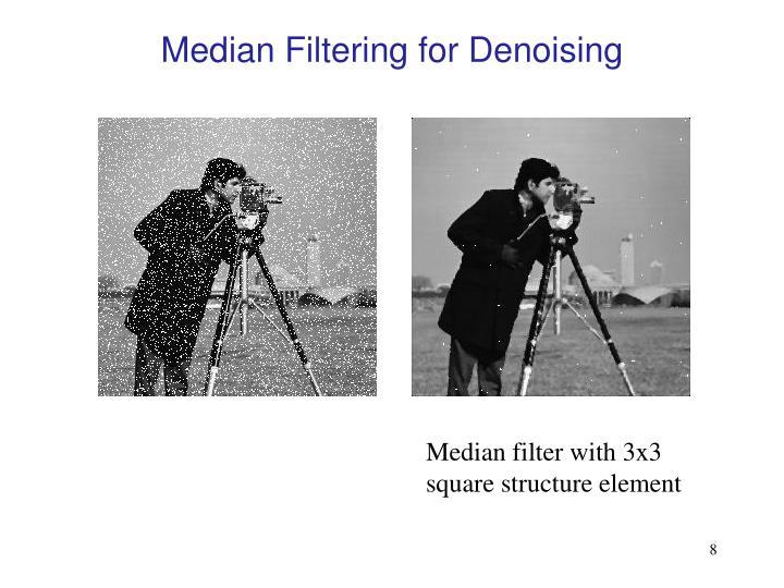 Median Filtering for Denoising