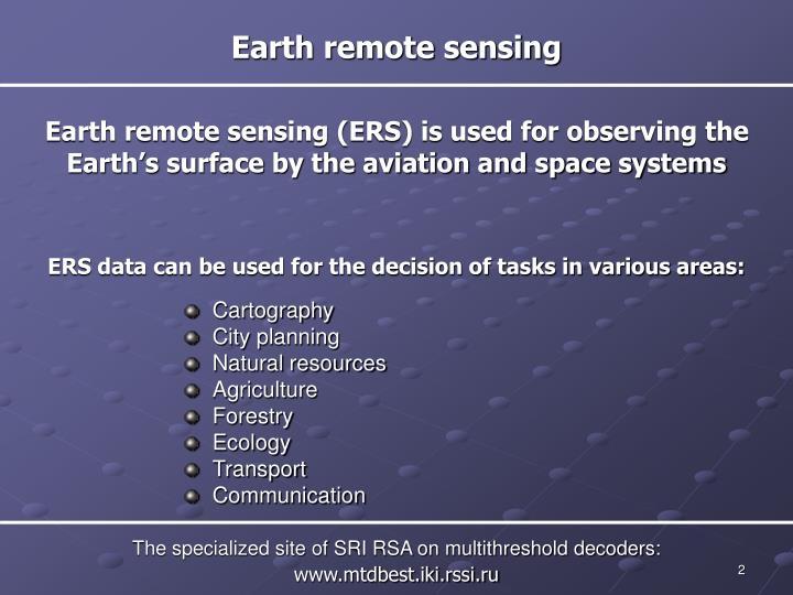 Earth remote sensing
