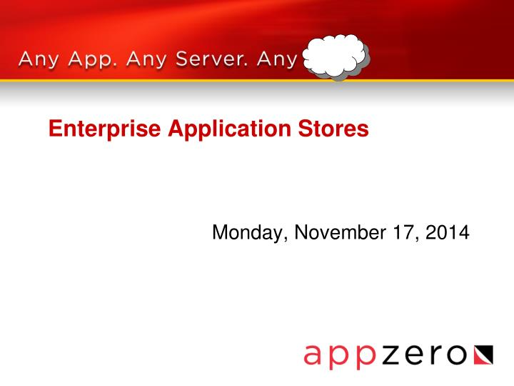 Enterprise application stores