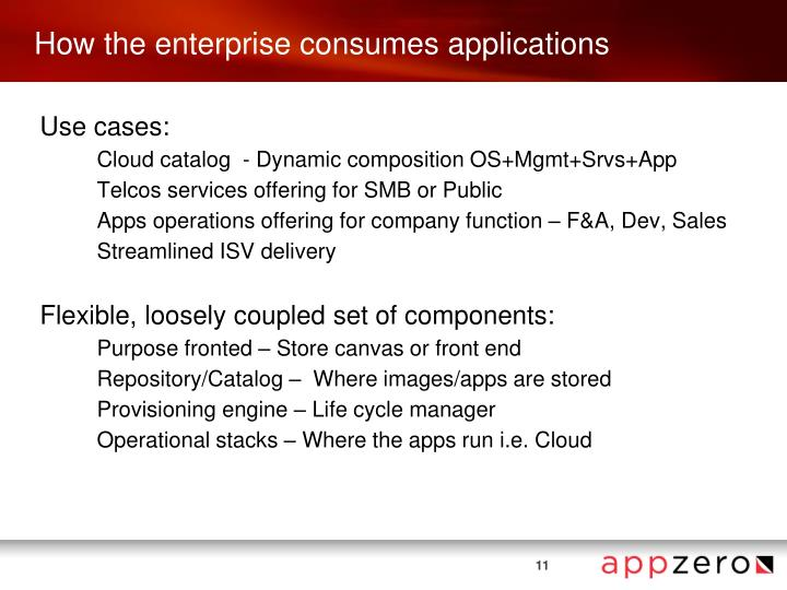 How the enterprise consumes applications