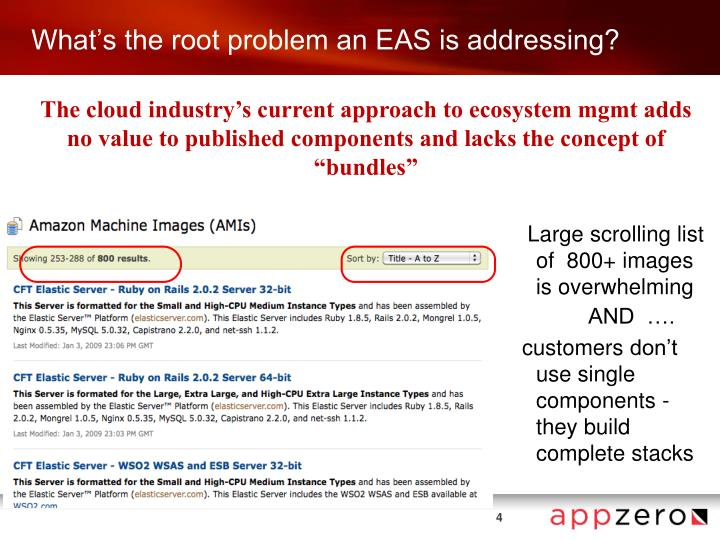 What's the root problem an EAS is addressing?