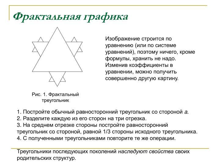 Рис. 1. Фрактальный треугольник