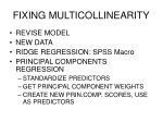 fixing multicollinearity