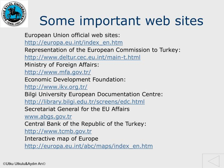 Some important web sites