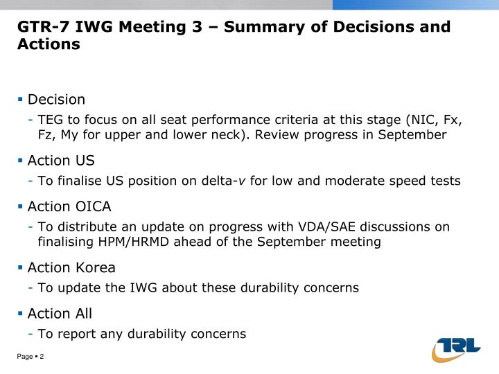 Gtr 7 iwg meeting 3 summary of decisions and actions1