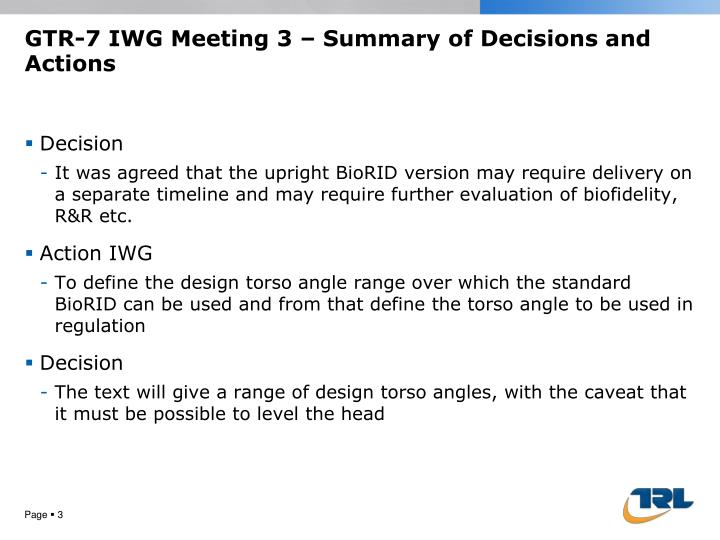 Gtr 7 iwg meeting 3 summary of decisions and actions2