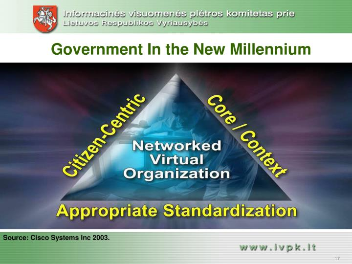 Government In the New Millennium
