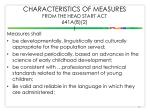 characteristics of measures from the head start act 641a b 2