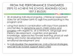from the performance standards steps to achieve the school readiness goals 1307 3 b 2 ii