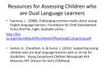 resources for assessing children who are dual language learners1