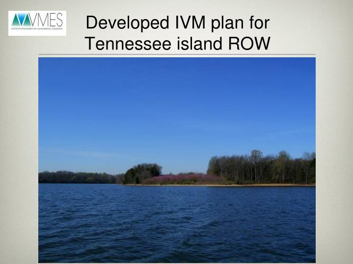 Developed IVM plan for