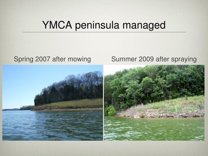 YMCA peninsula managed