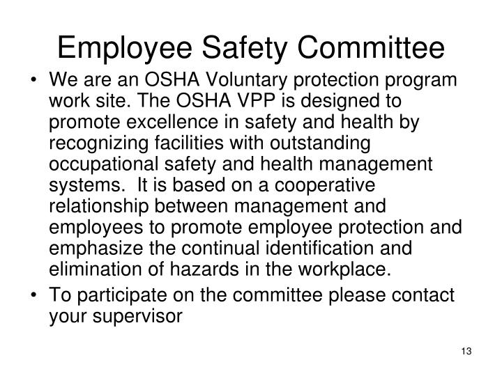 Employee Safety Committee