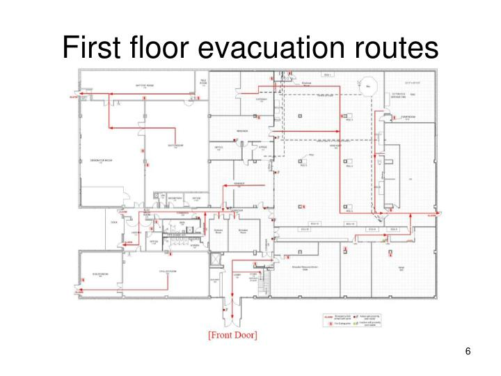 First floor evacuation routes